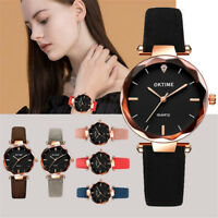 Starry Sky Women Retro Design Leather Band Analog Alloy Quartz Wrist Watch