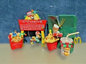 Enesco McDonalds Small Wonders Ornaments Lot of 3,+1990 Over One Million Wishes