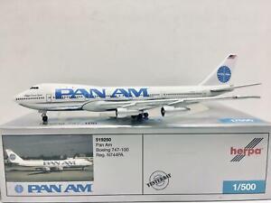Herpa Wings Pan Am Boeing 747-100 1:500 N744PA 519250