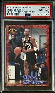 1996 Pacific Power Regents of Roundball Kobe Bryant Card #RR-6 PSA 8