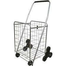 Helping Hand 3-wheel Stair-Climbing Folding Cart for Travel Storage Organizer