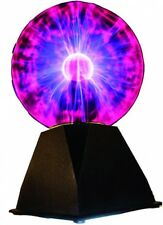 Plasma Ball Lamp, 7-Inch Sphere LightningLight Black Base Glass Tesla Effects