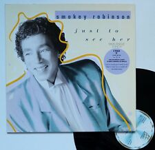 "LP maxi Smokey Robinson   ""Just to see her"""