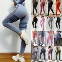 Womens Seamless Leggings Gym Fitness High Waist Butt Lift Yoga Pants Compression