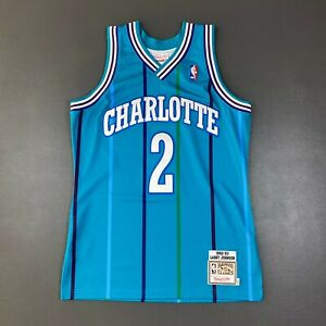 100% Authentic Larry Johnson Mitchell & Ness 92 93 Hornets Jersey Size 40 M Mens