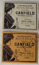 Publicité ancienne Sous bras Canfield Rubber  1899