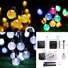 19.7Ft Globe Solar 30 LED Christmas String Light Fairy Ball Outdoor Garden Decor