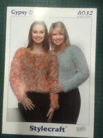 "Stylecraft Gypsy Dk 8032 Knitting Pattern Ladies 32-42"" Cardigan Sweater"