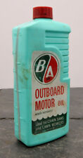 Vintage B/A British American Canadian Outboard Motor Oil Plastic Jug Can