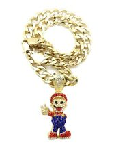 "SUPERMARIO PENDANT WITH 11mm 20"" CUBAN CHAIN"