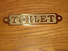 Solid Brass Toilet Plaque Hand Casted Door Sign /Bar/Pub Mens Ladies Large Slim