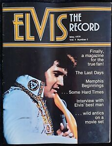 Rare Vintage Elvis Presley Magazine - The Record - Volume 1 NUMBER 1 - May 1979
