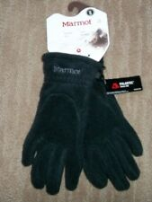 MARMOT Black INTERLAKEN POLARTEC 200 Fleece Winter GLOVES mens Size SMALL NEW