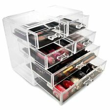 Makeup Jewelry Storage Organizer Acrylic Drawer Women Clear Beauty Box Container