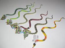 Lot x6 Jouet Plastique Serpent Factice 34 cm Snake Toy NEUF