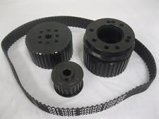 Big Block Chevy Black Gilmer Belt Drive Pulleys 396 454 BBC Long Pump Pulley Set