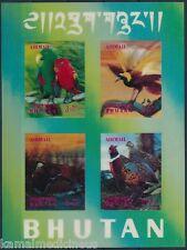 Bhutan MNH SS, 3D odd unusual Stamps, Parrot, Birds  -Z7