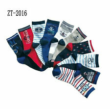 Bluk 10P Toddler Boy Kid Mixed Socks Bundle Check Stripe Black Grey Age 5/6/7/8