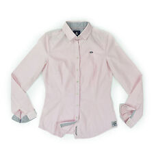 GAASTRA Damen Bluse S 36 NAUTIKAL rosa kariert Langarm Women shirt Oberteil wNEU