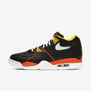 New Nike Air Flight 89 Shoes Sneakers 'RAYGUNS' (DD1171-001) - Black/ Orange