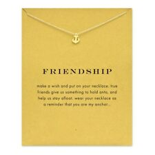 Sparkling friendship Anchor Pendant necklace Clavicle Chains lucky jewelry
