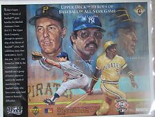 ALL-STAR GAME - PIRATES 1994 Upper Deck Heroes Of Baseball  Commemorative Sheet