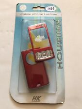 Nokia N95 - Full Fascia Housing Cover Front Back Case Keypad Replacement Red