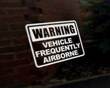 Avertissement fréquemment airborne autocollant vinyle voiture moto Véhicule graphique autocollant