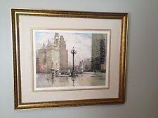 Luigi Kasimir Etching, Chicago, Wacker Drive, Estate Signed, Framed