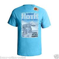 Visit Hoth Travel Poster Mens ORGANIC Cotton T-Shirt Star Wars Inspired Retro