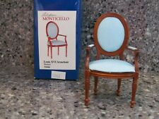 NIB Town Square Miniatures Jefferson Monticello Louis XVI Armchair