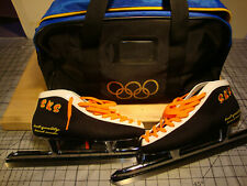 Handmade Ice speed Skates, S K S boots Penguin Blades! Women's size 2 40
