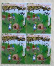 Trinidad & Tobago 50c Overprint 2003 Sweet Memories Issue Block of Four Mint