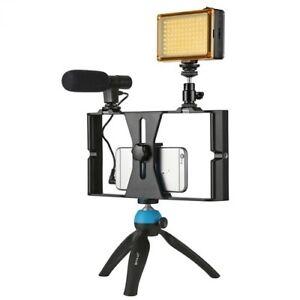 Video Camera Cage Stabilizer Film Making Rig Set Handle For Smart Phone Bracket
