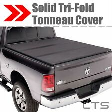 Lock Tri-Fold Hard Solid Tonneau Cover For 07-17 TUNDRA CREW MAX 5.5FT SHORT BED