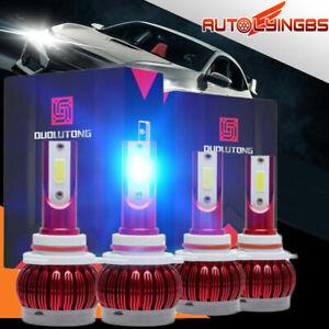10000K 9005+9006 Mini LED Headlight Bulb Lamp  Light High+Low Beam 80W Modify