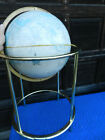 Large Vintage Cram's Imperial World Globe with Metal Floor Stand Brass Tone