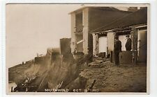 CLIFF COLAPSE, 1905, SOUTHWOLD: Suffolk postcard (C11481)