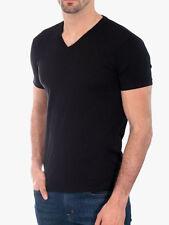 Men's Gem Rock Solid Black V-Neck T-Shirt Size 5X-Large Brand New!