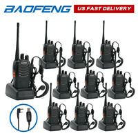 10x Baofeng BF-888S Walkie Talkie UHF Transceiver 5W  Two-way Radio + USB Cable