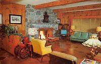 Lancaster Pennsylvania 1960s Postcard Main Lobby Conestoga Motor Inn Mid-Century