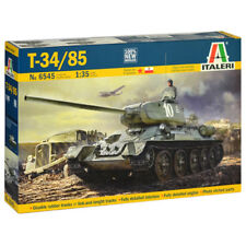 ITALERI T-34/85 Russian Tank Model Kit (Echelle 1:35) - 6545-New