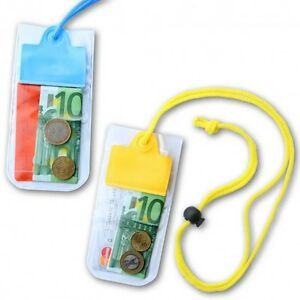 Waterproof Pouch neck wallet String Pool Money Pouches Safe Dry Holidays