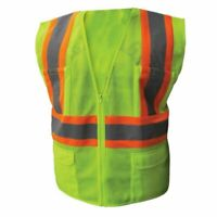 Ironwear 1287 Class 2 Safety Vest W/Two Tone Stripe 6 Pockets M-5X Hi Visibility
