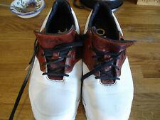 Adidas MENS Adizero Golf Shoes Size 9 Black/White/Brown - Good Condition