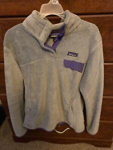 Patagonia Re-Tool Fleece Snap T Pullover Women's Size Large Kangaroo Pocket