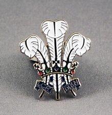Metall Emaille Anstecker Brosche Federn Prinz von Wales Warrant heraldisch