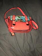 River Island Girls Orange Floral Bag With Fold Over