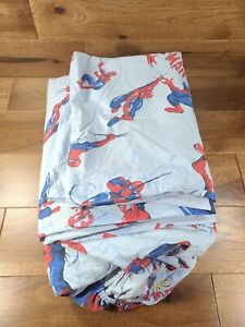 Pottery Barn Kids Spider-Man 3 Piece FULL Bed Sheet Set Flat, Fitted, Pillowcase