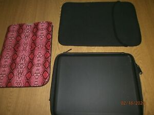 Computer Cases IPads ebook readers foam soft pink black patterened x 3